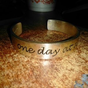 """Rustic Cuff """"ONE DAY AT A TIME"""""""